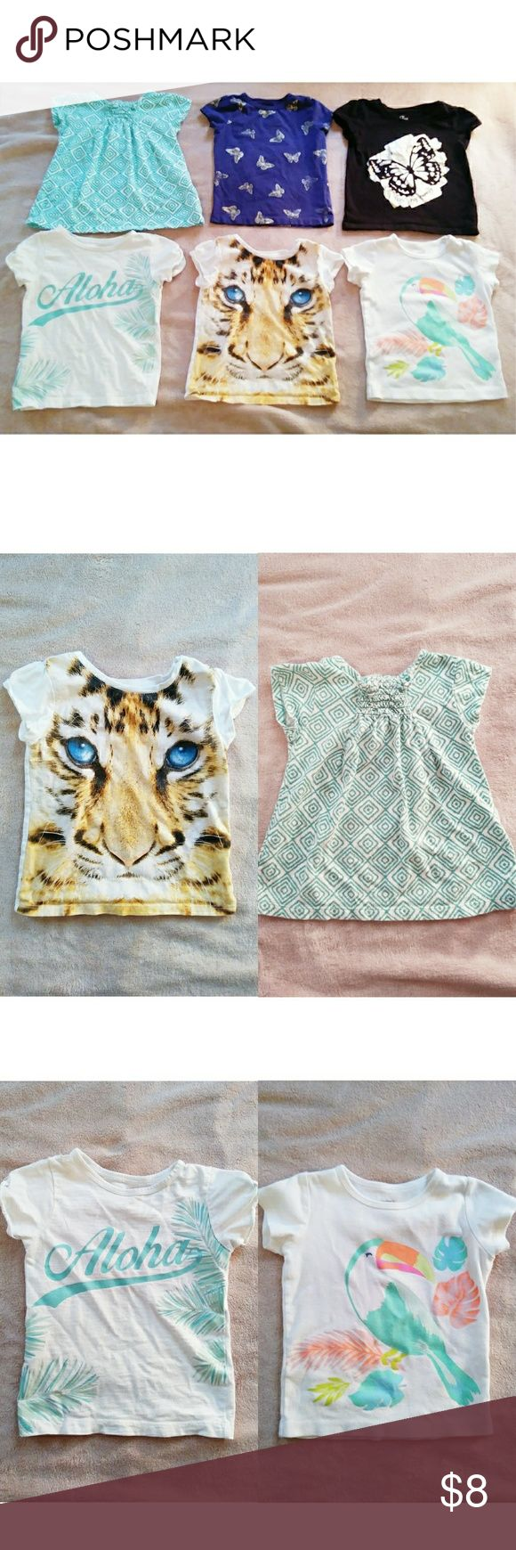 2T Girls Graphic Tees Lot 6 6x Graphic TShirys for Girls Size 2T. Shirts & Tops Tees - Short Sleeve