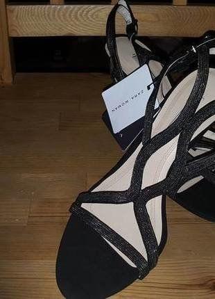 czarne buty damskie skórzane ZARA 40