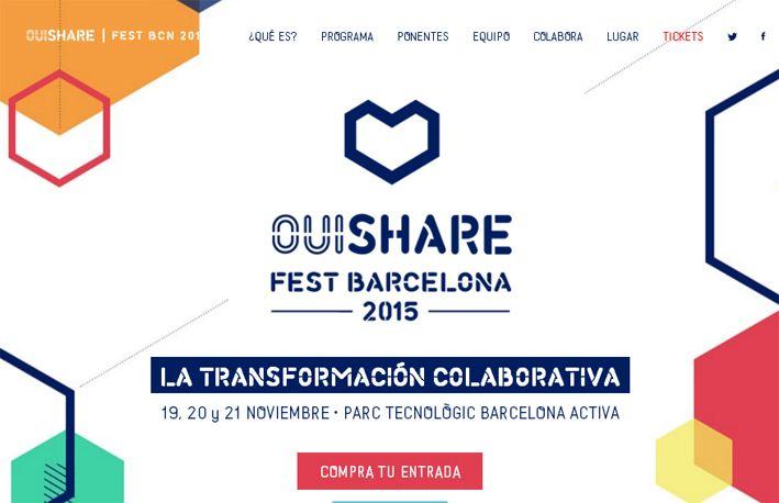 Evento OuiShare Fest Barcelona 2015.