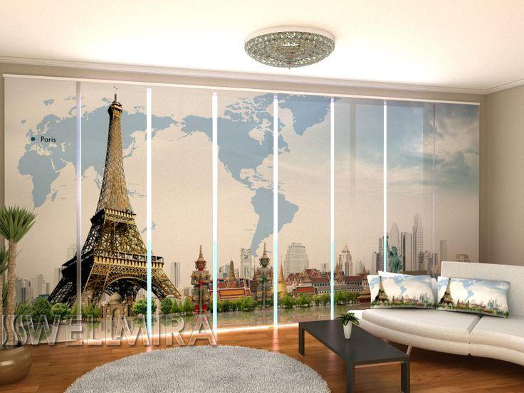 Set of 8 Panel Curtains World Map  #Wellmira #ModernCurtains #PanelCurtains #Curtains #JapaneseCurtains #Fotogardine #Schiebevorhang #Flächenvorhang #Schiebegardine #Paris https://wellmira.com/collections/sets-of-8-panel-curtains/products/set-of-8-panel-curtains-world-map?variant=25760957191