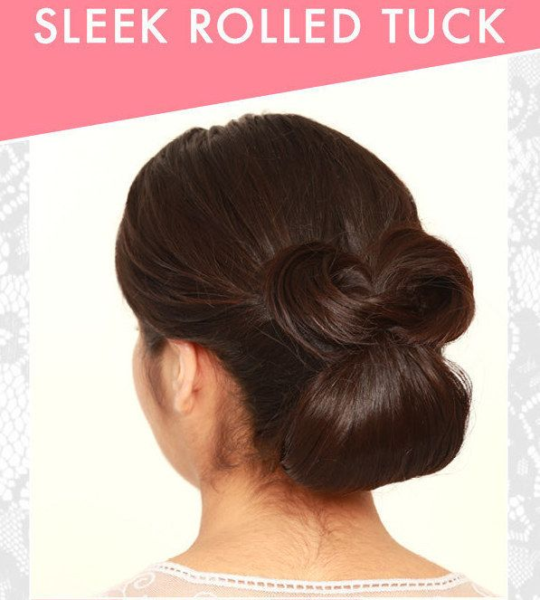 The Sleek Rolled Tuck | 31 Gorgeous Wedding Hairstyles You Can Actually Do Yourself