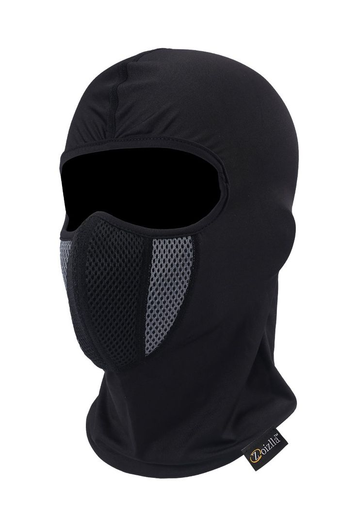 Balaclava Ski Mask, Zoizlla Motorcycle Face Mask for Men/Women, Thin Breathable Face Mask, Tactical Mask Snowboard Headgear - Black. &#9658PRODUCT FEATURES - 1. Free breathable yet keep you warm; 2. Completely cut wind, dust and UV off; 3. Absorb sweat and ventilate; 4. Light weight and no pressure points. &#9658MULTI FUNCTIONS - The balaclava has many multi functions, which can be used as a scarf, helmet-liner, muffler, neck gaiter, dust screen and so on. What's more, the design of mask…