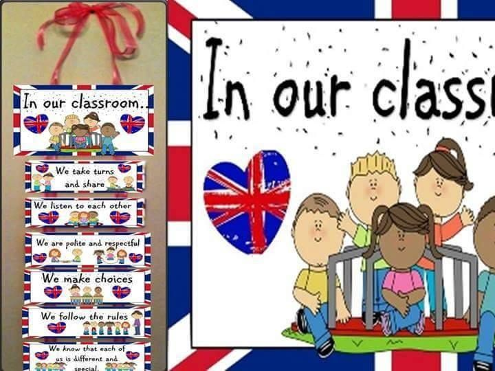 Print and string together with ribbon to make a lovely British values display