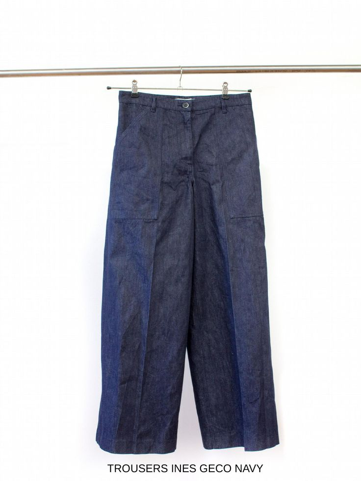 Trousers Ines Geco Navy. Discover all the denim fashion items on www.barenavenezia.com