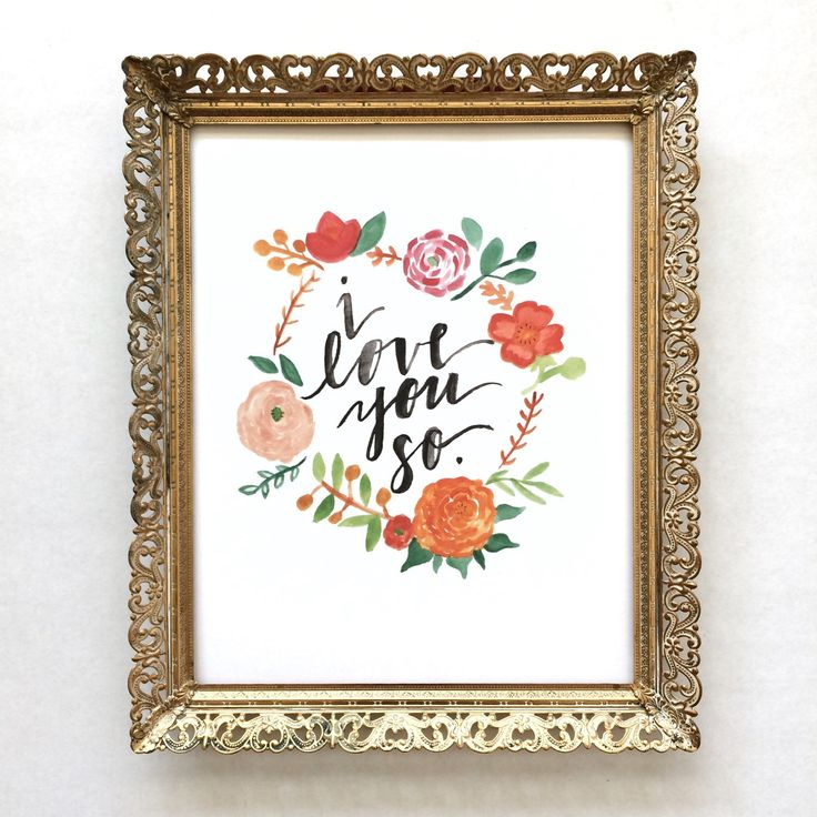 Beautiful nursery print! Whimsical & romantic. Hand painted watercolor and brush lettering.