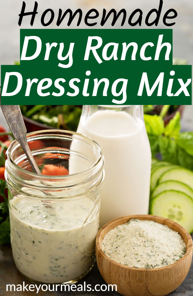 Homemade Dry Ranch Dressing Mix Dry Ranch Dressing Mix Homemade Dry Ranch Dressing Mix Ranch Dressing Mix