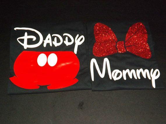 Familia de Disney juego de camisetas de mamá por CCCreationzshop