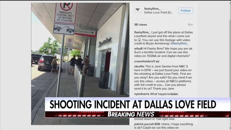 VIDEO: Cop Shoots Suspect Outside Dallas Airport Baggage Claim