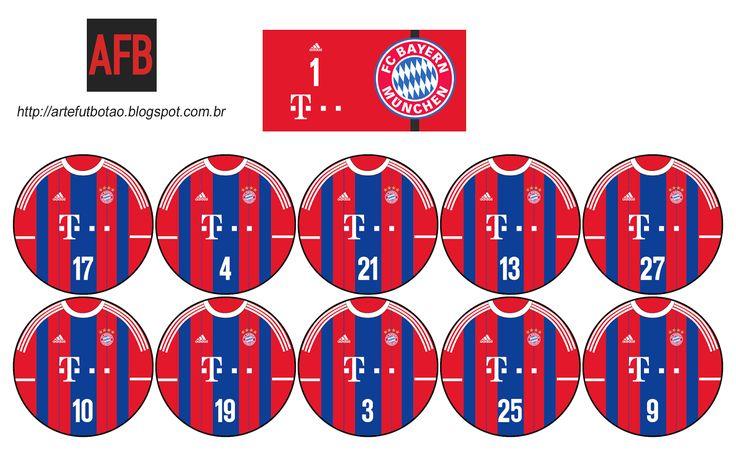 Arte Futebol de Botão: Bayern Munich 2014-15