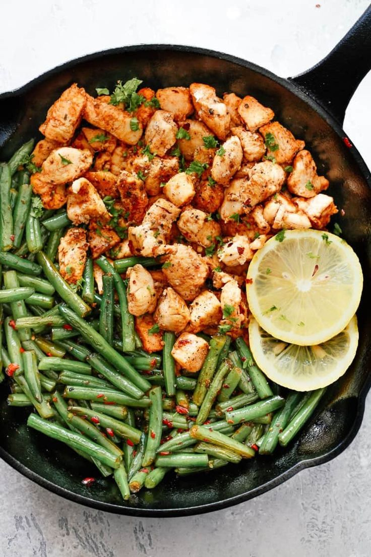 Make This Spicy Green Bean Chicken Skillet For Dinner