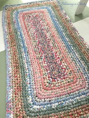 Crocheted Rag Rug Www Bloominginchintz Blo Com