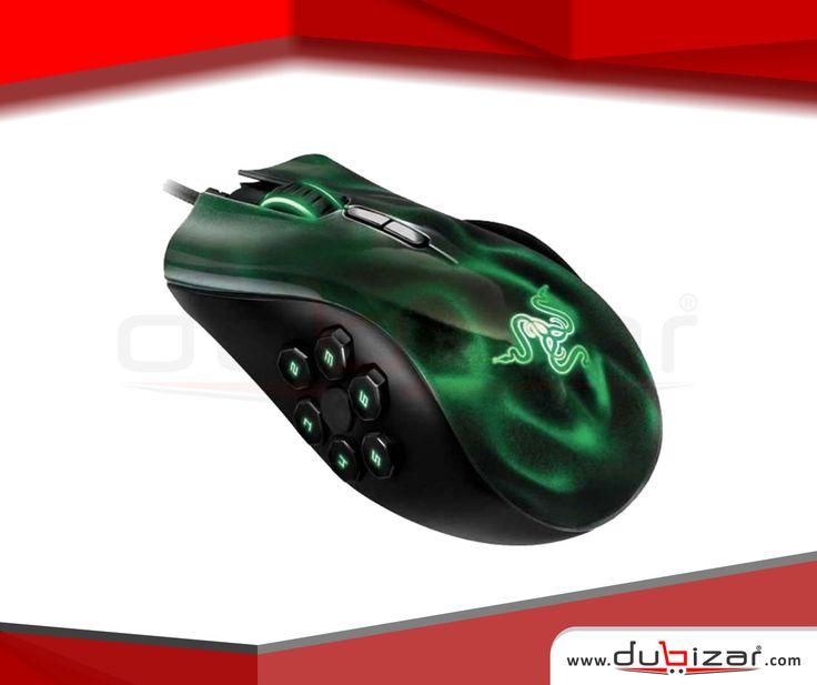 Dubizar.com Razer Naga Hex MMO Green Gaming Mouse. High performance buttons up to 250 clicks per minute