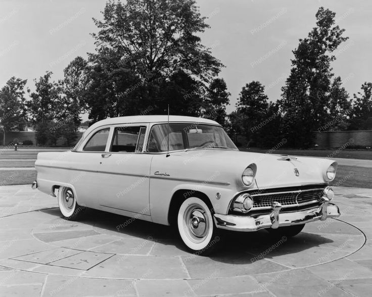 Ford 1955 4 Door Sedan Vintage Auto 8 x10 Old Photo 1