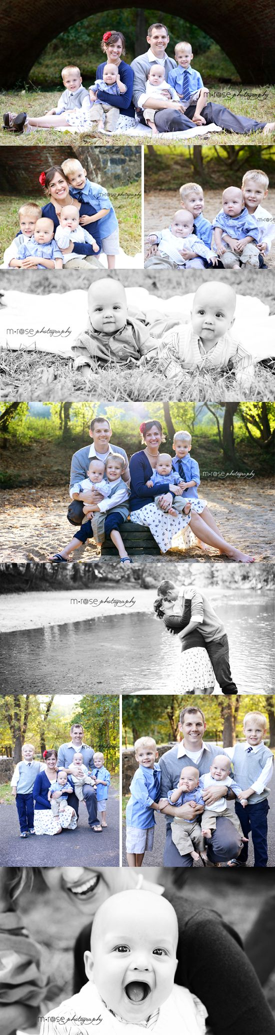Family of Six Photoshoot. Twin Boys. | M Rose Photography