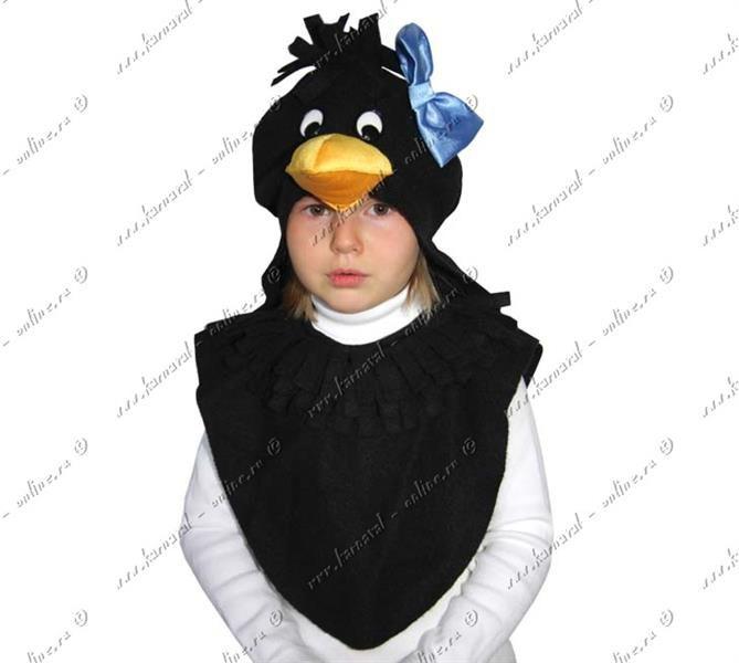 Детский новогодний костюм ворона для мальчика