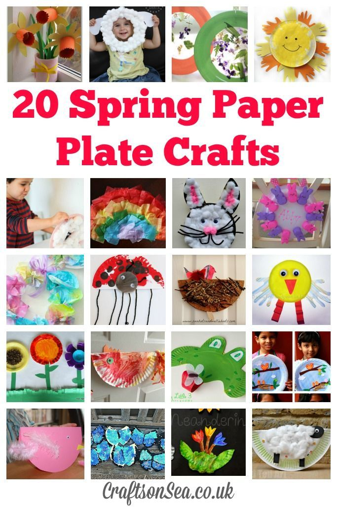Keep your kids busy for the whole season with these fun Spring paper plate crafts! Spring animal crafts, flowers, birds, chicks and loads more inspiration!