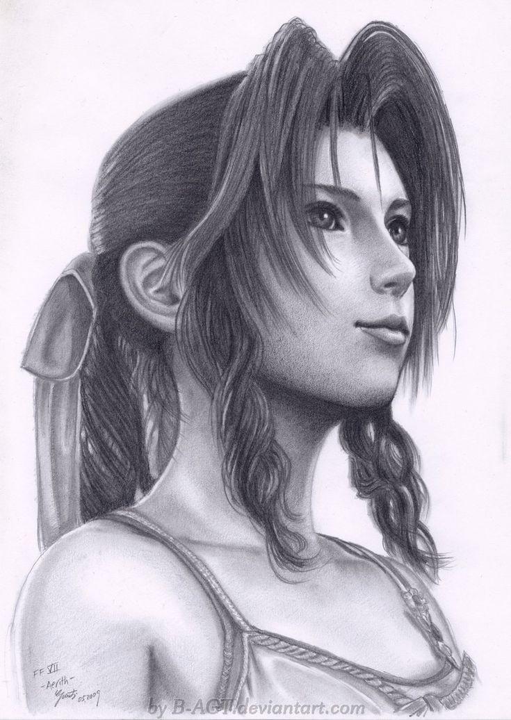 Aerith Final Fantasy VII by *B-AGT on deviantART