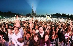 Audience at festival