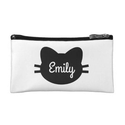 Personalised Cat Cosmetic Bag - accessories accessory gift idea stylish unique custom