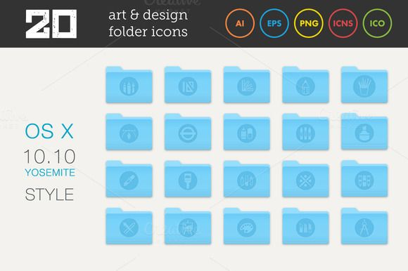 Check out Art and Design Folder Icons Set 2 by MastakA on Creative Market