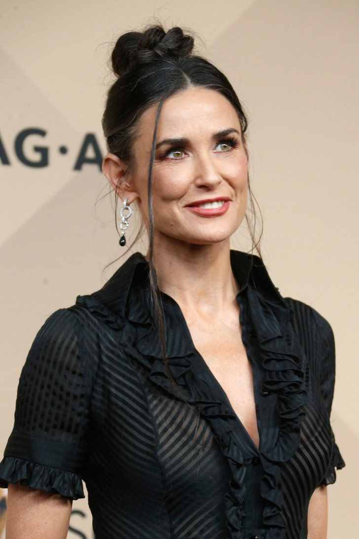 Pin for Later: Let These Celebrities Inspire Your Bridal Hairstyle Demi Moore