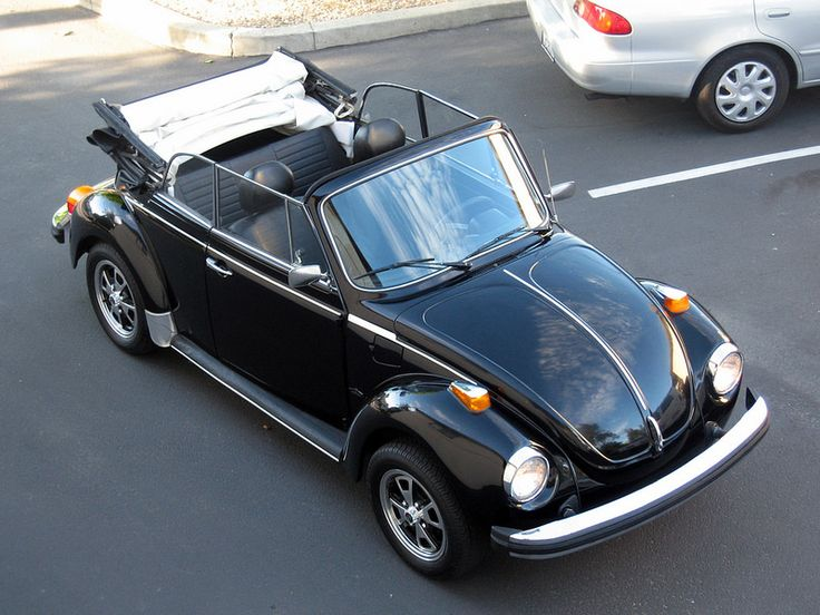 Max Musto, from Santa Clara, California. His 1980 Triple Black Super VW Beetle Epilogue Edition. Stock Engine 1584 EFI Fuel Injected.