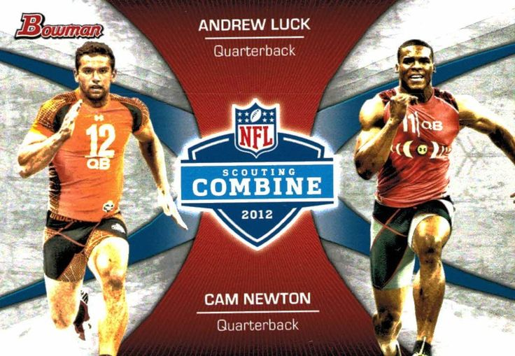 2012 Bowman NFL Scouting Combine Andrew Luck Cam Newton Rookie Card