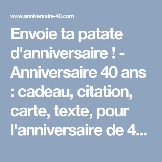 17 meilleures id es propos de texte anniversaire 40 ans sur pinterest cadeaux d 39 anniversaire - Cadeau d anniversaire 18 ans ...