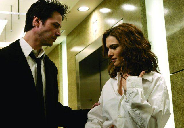 Still of Keanu Reeves and Rachel Weisz in Constantin