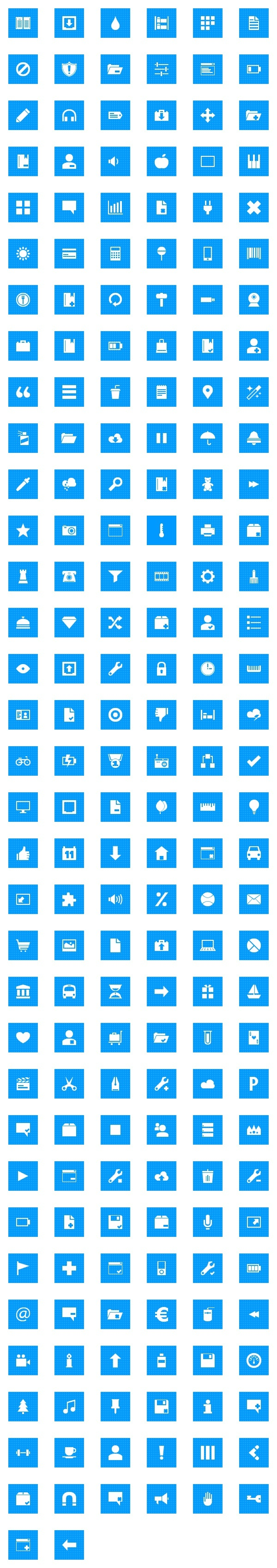 "The newest Metro styled pixel icon set from DryIcons.com, called ""Pixelistica Blue""."