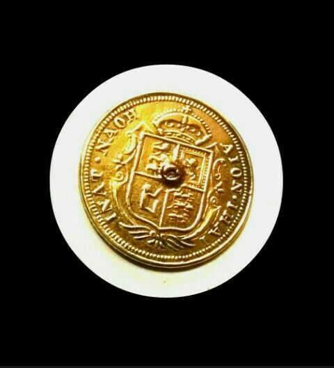 Tioto Dtbato Jeton coin ring Brass metal coin Britain ring.  Old coin ring  For sale $.150 disc.