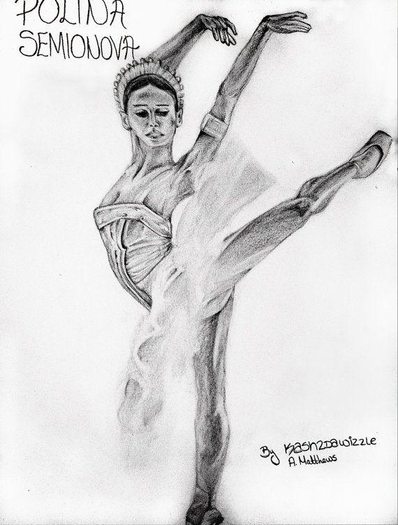 Polina Semionova #dance #ballet #portrait #drawing #music #sketch #art