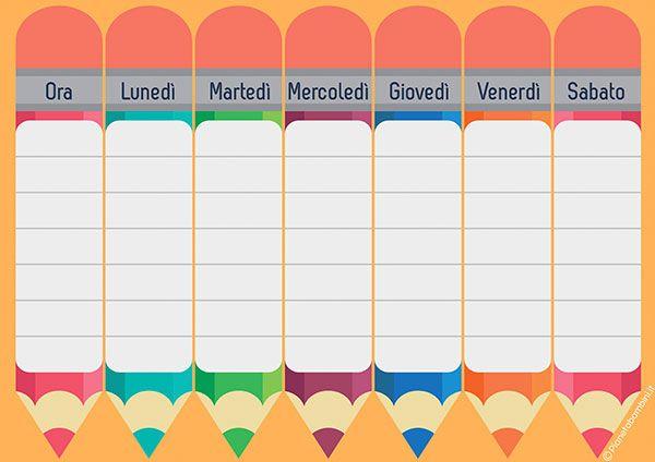 Popolare Oltre 25 fantastiche idee su Orario scolastico su Pinterest  LB31