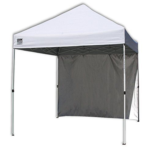 Quik Shade Commercial C100 10'x10' Instant Canopy with Wall Panel - White - Get out of the sun without missing the fun! The Quik Shade Commercial C100 10-Foot x 10-Foot Instant Canopy with Wall Panel is a lightweight recreational shelter that assembles in less than a minute. The UV-resistant top is Aluminex-backed, providing 99% UV protection from the sun's harmful rays....
