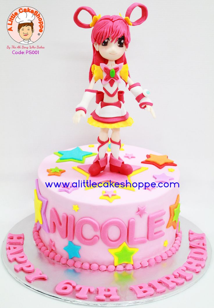 Pretty Cure cake from A Little CakeShoppe Singapore.  Figurine handmade in sugar