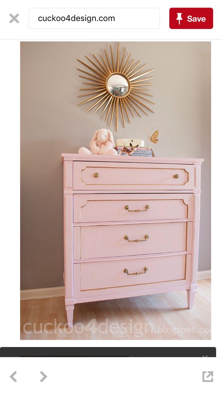 Behr hopeful pink furniture pink dresser chalk paint