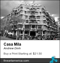Casa Milà is a unique buildingunofficially known as La Pedrera (the Quarry). In 1984, UNESCO classified Casa Milà as a World Heritage site. Today, Casa Milà is used for cultural expositions. FAA: http://fineartamerica.com/featured/casa-mila-andrew-dinh.html