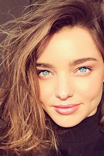 We could have gone with Adriana Lima, but instead we decided that her baby face and brow situation (not to mention those dimples) were Miranda Kerr, reborn.