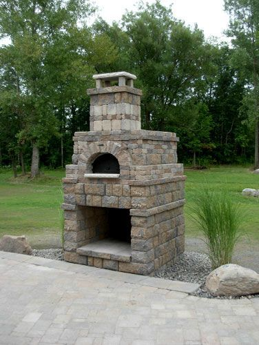 37 best images about outdoor fireplace pizza oven on for Prefab outdoor fireplaces