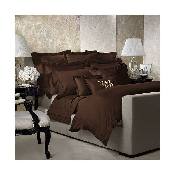 Ralph Lauren Home Rl 624 Brown Duvet Cover (28,610 INR) ❤ liked on Polyvore featuring home, bed & bath, bedding, duvet covers, patterned bedding, ralph lauren, brown bedding, ralph lauren bedding and ralph lauren bed linens