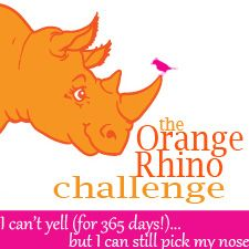 The Orange Rhino Challenge Day |   She is celebrating 100 days without yelling at her kids on Thursday!  Join in on Thursday for one day!: 50 Alternative, Challenges Details, Mind Parents, Rhinos Challenges, 12 Step, Yell Challenges, Orange Rhinos, 10 Things, Kids
