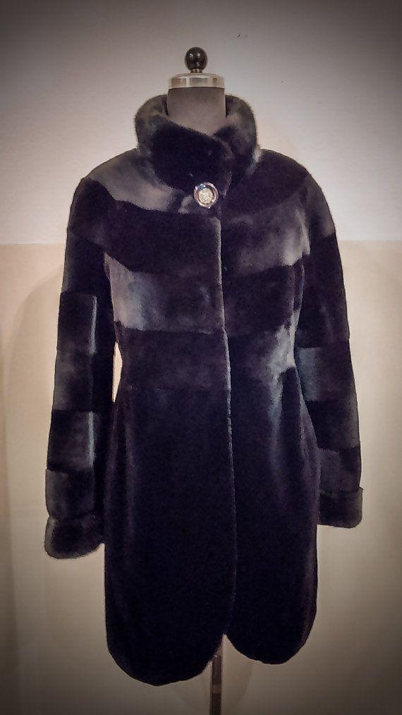Fur Coat/ Real Saga mink fur/ Full skinned sheared by ReginaFurs