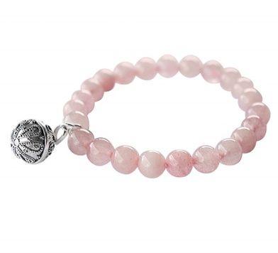 Harmony Ball Bracelet - ROSE QUARTZ - Bella Donna Sterling Silver