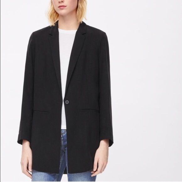 COS Black Long Slim- fit Blazer COS Blazer; Size: 8 (US), 38 (EUR); Condition: Like New COS Jackets & Coats Blazers