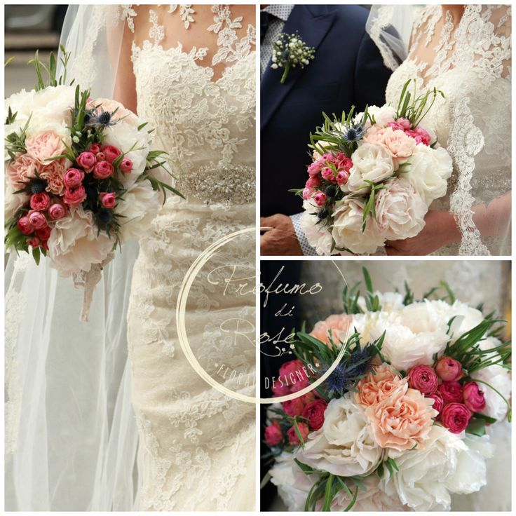 Wedding Wood bouquet di peonie romantico ma spontaneo