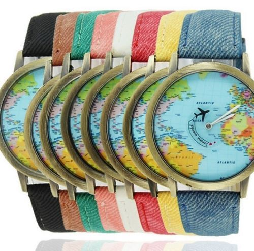 New-Unisex-Men-Women-Lovers-Hot-Colors-Colorful-Map-Quartz-Watches-Wristwatches
