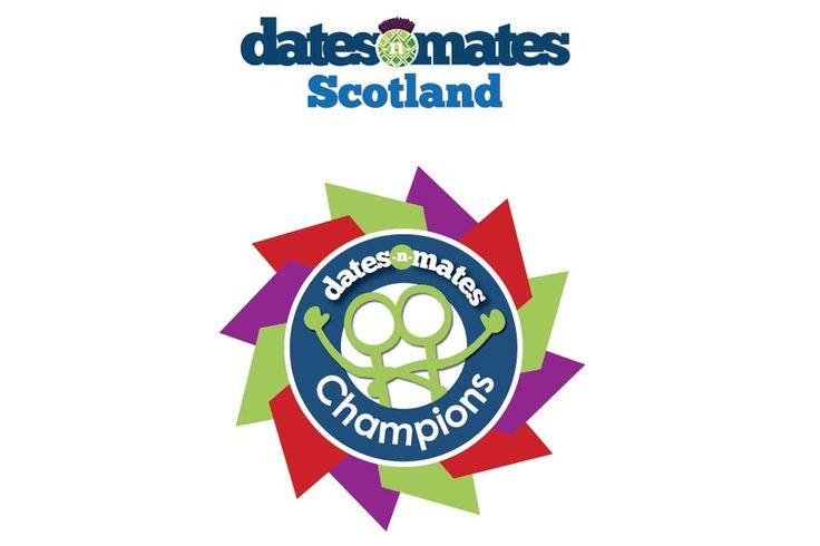 DATES-N-MATES SCOTLAND CHAMPIONS - Logo we put together for dates-n-mates Scotland's Champions. Logo was used to promote the dates-n-mates Scotland Champions Awards and Champions Booklet. #logo #branding #identity #Scotland #champions #datesnmates