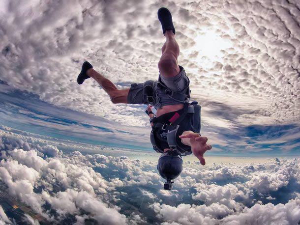 Salto en paracaídas con la cámara GoPro