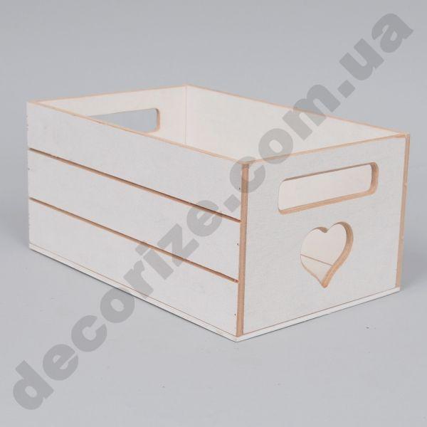 Ящик под цветы деревянный белый, всего 68грн.
