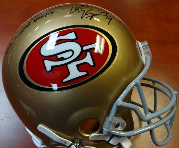 Colin Kaepernick Autographed San Francisco 49'ers Full Size Authentic Proline Helmet With Stats TriStar #7506984